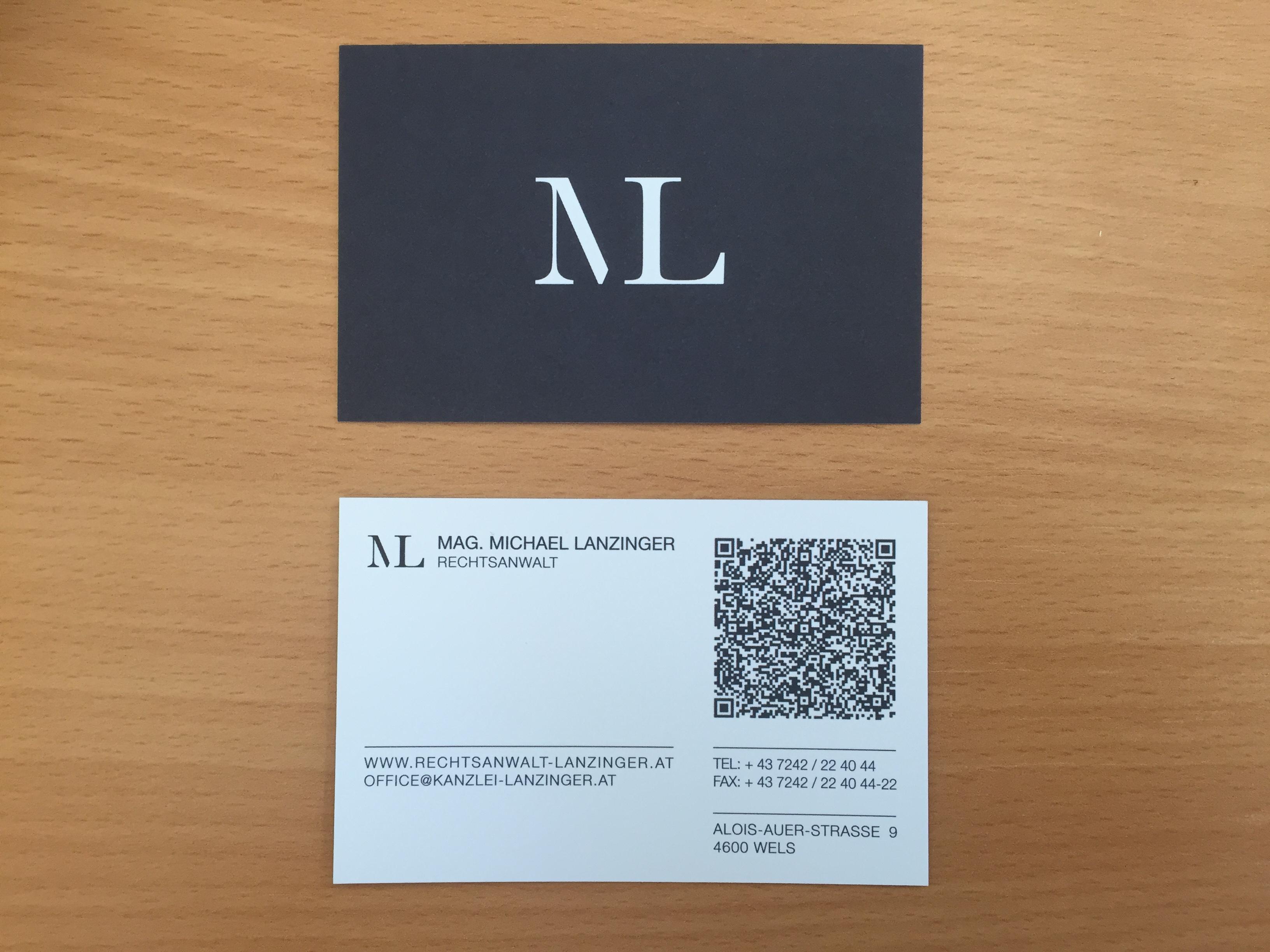 Qr Code Auf Meinen Visitenkarten Rechtsanwalt Lanzinger